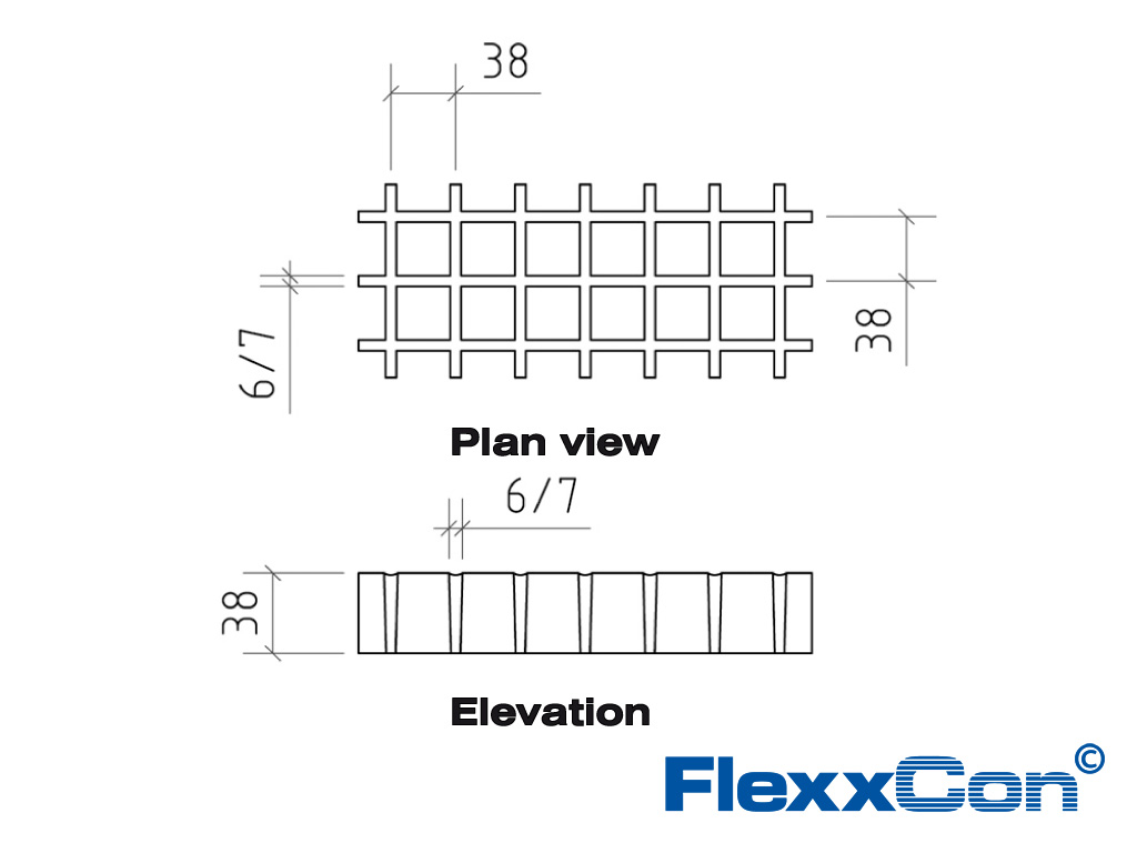 Flexxcon frp grating 38mm 3838 ve meniscus grey thickness 38 mm pooptronica