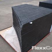 GFK-Gitterroste als ästhetische Elemente eingesetzt in Den Bosch